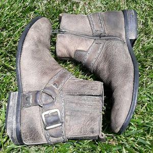 Bed Stu Distressed Harness Boots Sz 10